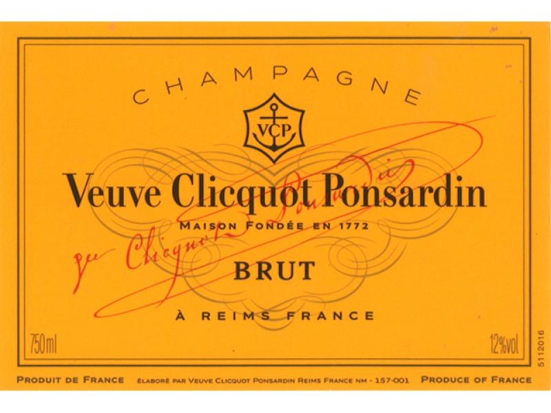 étiquette d'une bouteille de Champagne