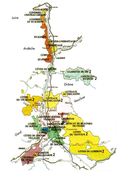 Znalezione obrazy dla zapytania Côtes du Rhône septentrionale