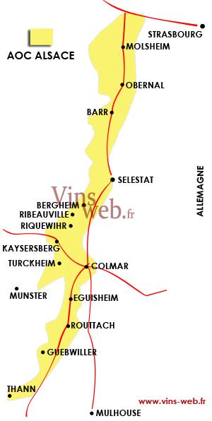 Carte Alsace Bergheim.Le Vignoble Alsacien Et Les Vins D Alsace