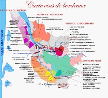 carte vins Bordeaux