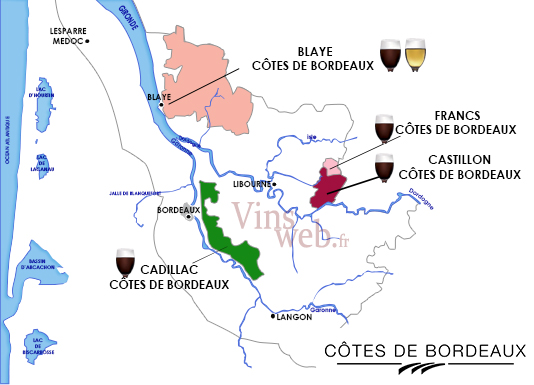 Carte Bordeaux Appellations.Cotes De Bordeaux Appellations Cotes De Bordeaux